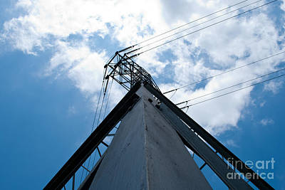 Structure Photograph - Large Powerlines 9 by Pittsburgh Photo Company