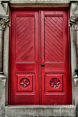 Photograph - Large Red Doors by Alana Ranney