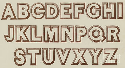 Alphabet Drawing - Large Relief  by English School