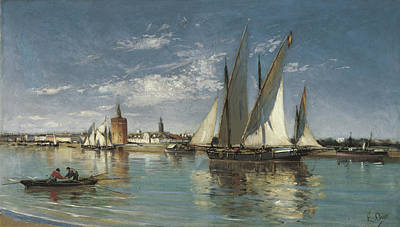N.y Painting - Large Sailing Boat Leaving The Port Of Seville by MotionAge Designs