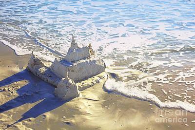 Large Sandcastle On The Beach Art Print by Skip Nall