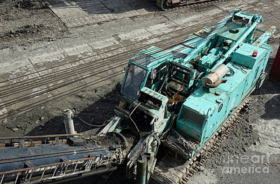 Photograph - Large Scale Construction Equipment by Yali Shi