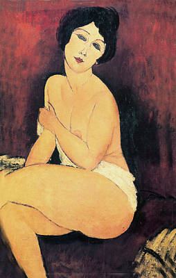 Large Seated Nude Art Print by Medeo Modigliani