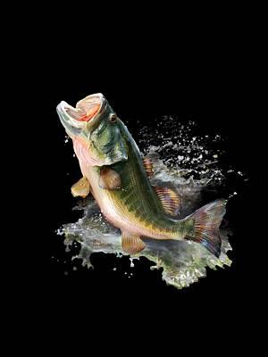 Large Mouth Bass Digital Art - Large Splash by Gregory Doroshenko