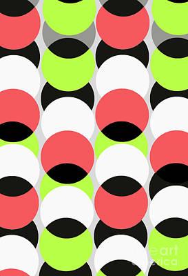 Motif Digital Art - Large Spots by Louisa Knight