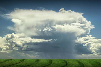 Photograph - Large Storm Cloud Over A Farm Field by Randall Nyhof