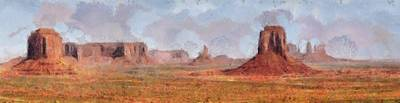 Indian Tribal Art Painting - Large Utah Arizona Monument Valley Art Painting  by Wall Art Prints