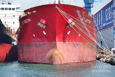 Photograph - Large Vessel In A Shipyard In Taiwan by Yali Shi