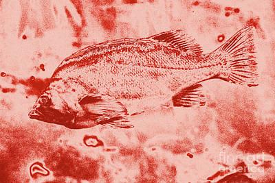 Largemouth Digital Art - Largemouth Bass by Chris Taggart