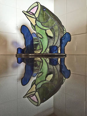 Glass Art - Largemouth Bass by Donald Paczynski