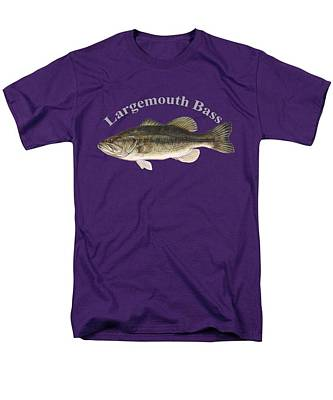 Largemouth Drawing - Largemouth Bass Fish By Dehner by T Shirts R Us -