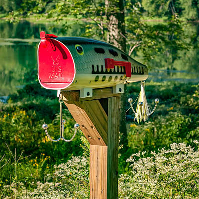 Us Mail Photograph - Largemouth Bass Lure Mailbox by Steve Harrington