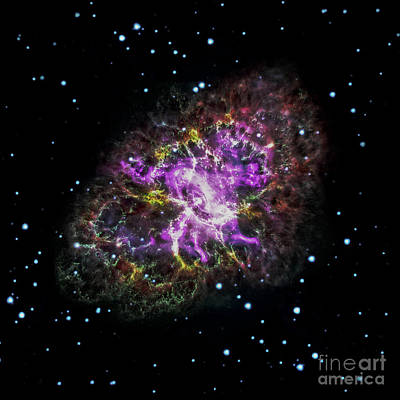 Photograph - Largest Detailed Image Of The Crab Nebula - Art Print by Doc Braham