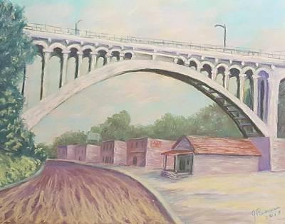 Pastel - Larimer Ave Bridge Pittsburgh by Joann Renner