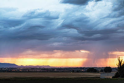 Photograph - Larimer County Colorado Sunset Thunderstorm by James BO Insogna