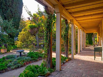Photograph - Larkin House Garden by Derek Dean