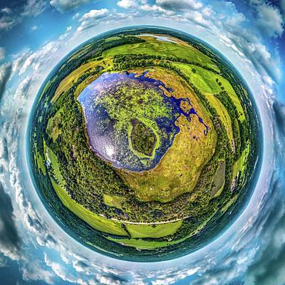 Photograph - Larkin Lake Little Planet by Randy Scherkenbach