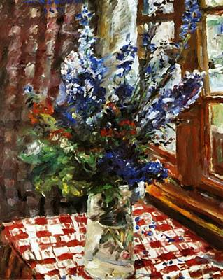 Painting - Larkspur 1924 by Corinth Lovis
