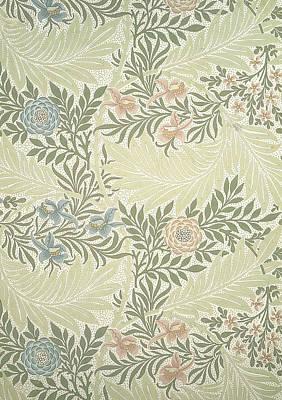 Delphineum Tapestry - Textile - Larkspur  by William Morris
