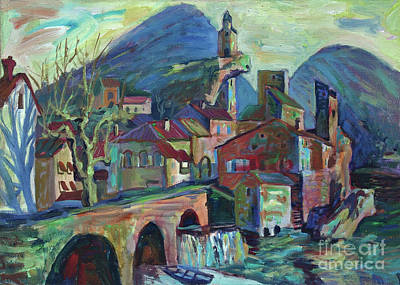Painting - Laroque-des-arques by Katia Weyher