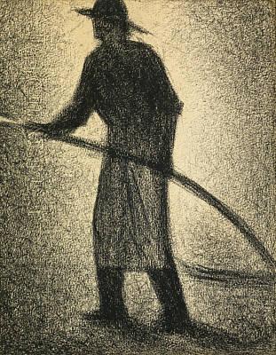 Georges Seurat Drawing - L'arroseur by Georges Seurat