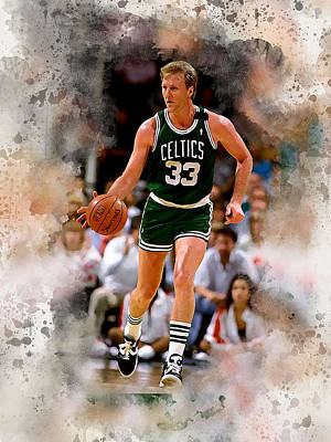 Athletes Royalty-Free and Rights-Managed Images - Larry Bird by Karl Knox Images
