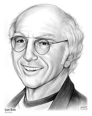 Drawing - Larry David by Greg Joens