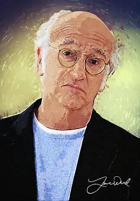 Woody Allen Digital Art - Larry David by Taylan Apukovska