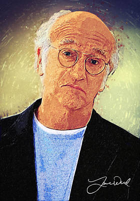 Woody Allen Digital Art - Larry David by Taylan Apukovska