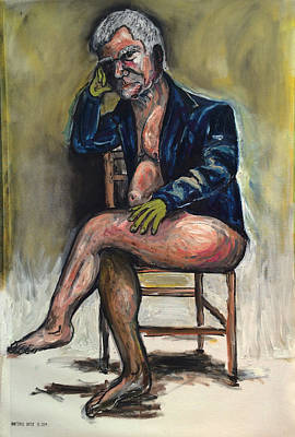 Larry David Painting - Larry Godgosian by Antonio Ortiz