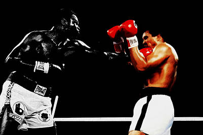 Larry Holmes And Muhammad Ali Art Print