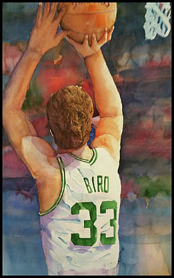 Larry Bird Painting - Larry Legend by Fred Smith