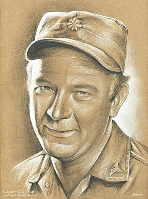 Larry Linville Art Print by Greg Joens
