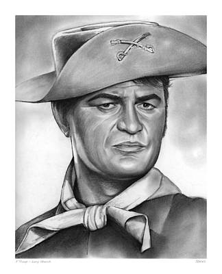 Drawing - Larry Storch by Greg Joens
