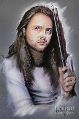 Drummer Mixed Media - Lars Ulrich by Melanie D
