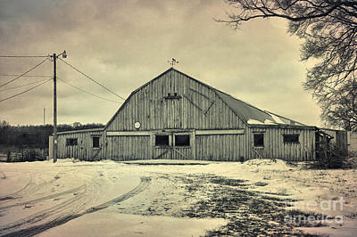 Country Snow Photograph - Larsen Road Barn by Joel Witmeyer