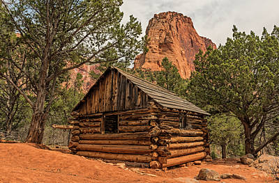 Photograph - Larson Cabin In Zion by Loree Johnson