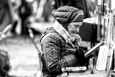 Photograph - L'artiste Paris by John Rizzuto