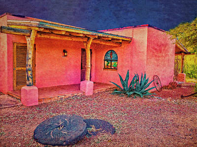 Digital Art - Las Casita Rosa by Sandra Selle Rodriguez