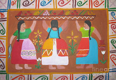 Mexican Sister Painting - Las Comadres by Sonia Flores Ruiz
