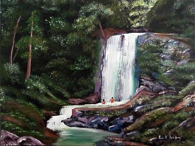 Las Marias Puerto Rico Waterfall Art Print by Luis F Rodriguez