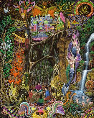 Las Nalpeas Del Renaco  Art Print
