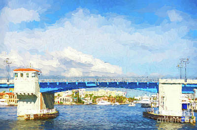 Photograph - Las Olas Drawbridge - Painterly  by Les Palenik