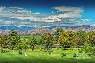 Photograph - Las Posas Driving Range Topatopa Mountains by David Zanzinger