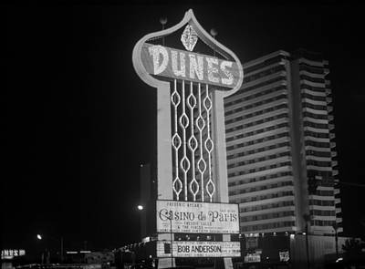 Glitter Gulch Photograph - Las Vegas 1980 Bw #2 by Frank Romeo