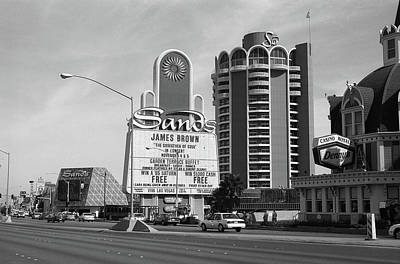 Print featuring the photograph Las Vegas 1994 #1 Bw by Frank Romeo