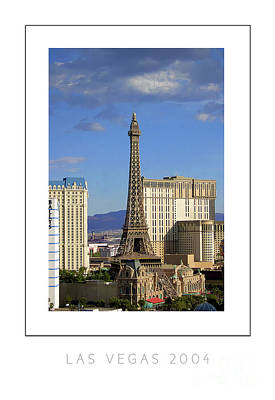 Paris Skyline Royalty-Free and Rights-Managed Images - Las Vegas 2004 poster by Mike Nellums