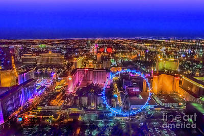 Photograph - Las-vegas Aerial Golden Hour by Jodi Jacobson