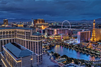 Paris Skyline Royalty-Free and Rights-Managed Images - Las Vegas at night by Brett Engle
