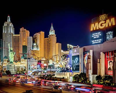 Photograph - Las Vegas At Night by Joe Myeress